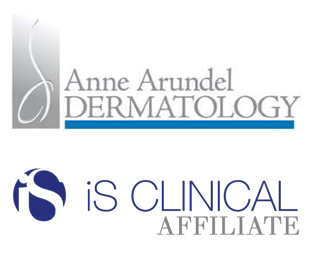 Anne Arundel Dermatology and iS Clinical logos